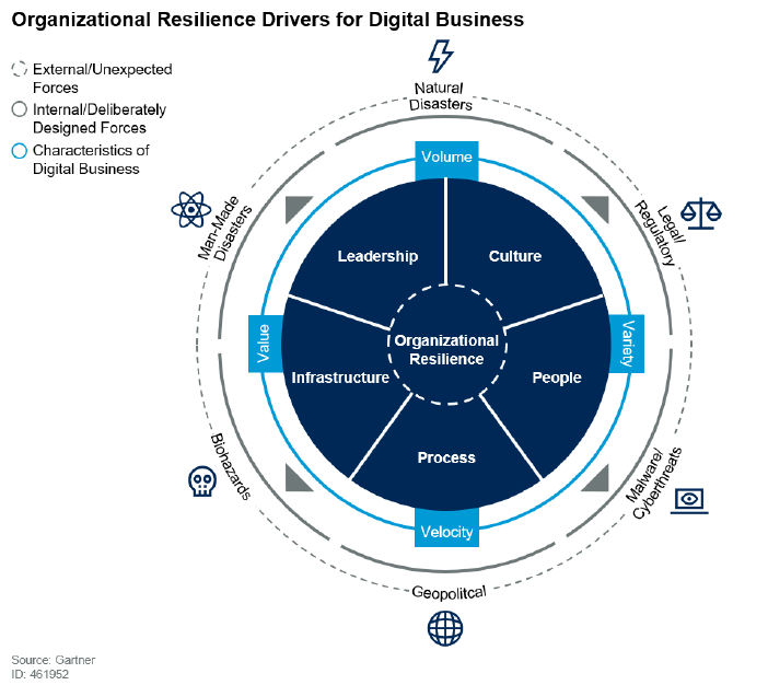 Organizational resilience drivers for digital business