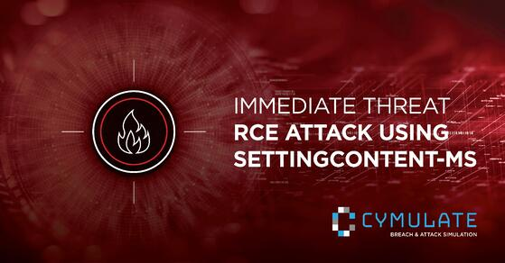 Immediate Threat: Remote Code Execution abusing SettingContent-ms can deliver malicious code