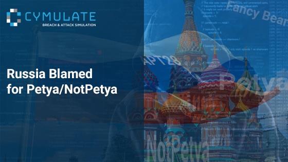 Russia Blamed for Petya/NotPetya